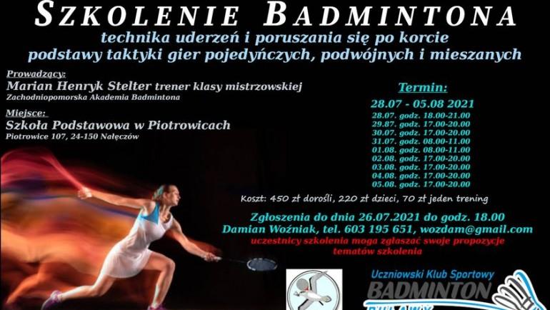 Szkolenie Badmintona lato Piotrowice 2021